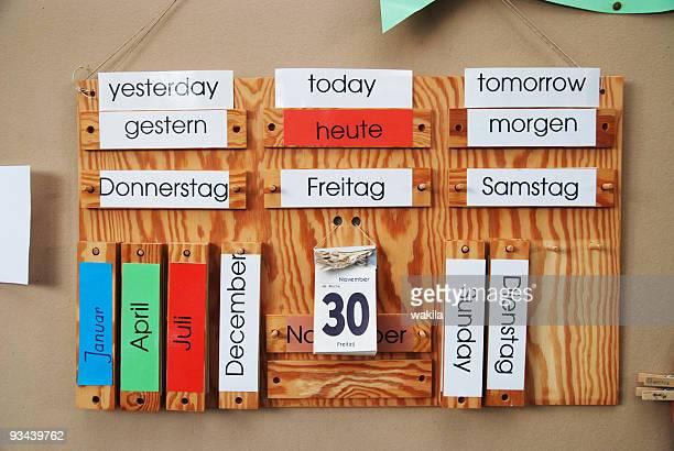 german english calendar