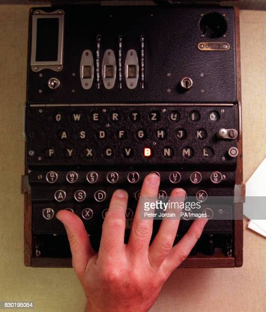 German 'Enigma' machine used for encoding military information at the wartime intelligence centre at Bletchley Park which is to be turned into a...