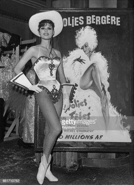German entertainer Marlene Charell born Angela Miebs star of the new Folies Bergère show 'Folies en Fêtes' Paris France 29th January 1964