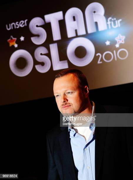 German entertainer Stefan Raab poses for photographers prior to a press conference on January 21, 2010 in Berlin, Germany. Starting February 2nd Raab...