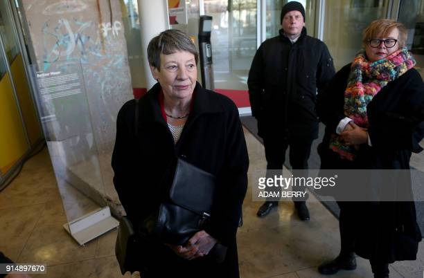 German Environment Minister Barbara Hendricks arrives at the Christian Democrats headquarters for further talks to form a new government on February...