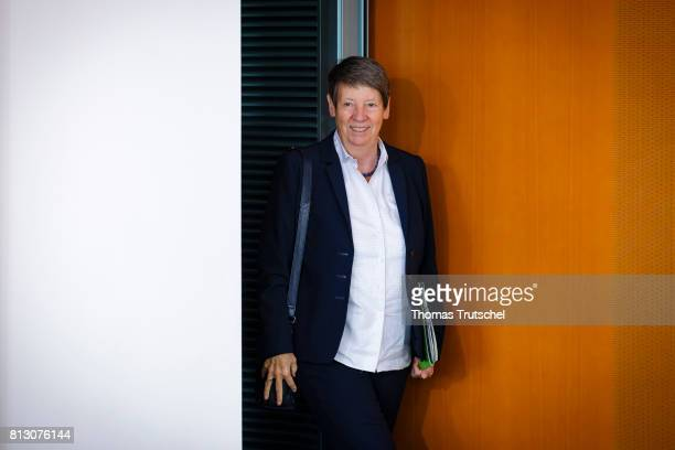 German Environment Minister Barbara Hendricks arrives for the weekly cabinet meeting at the chancellery on July12 2017 in Berlin Germany