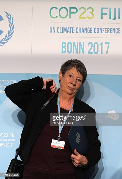 German Environment Minister Barbara Hendricks leaves after addressing a press confereence on the last day of the COP23 United Nations Climate Change...