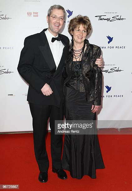 German Environment Minister Norbert Roettgen and his wife Ebba HerfsRoettgen attend the Annual Cinema For Peace Gala during day five of the 60th...