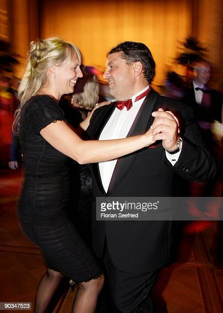 German Environment Minister Sigmar Gabriel and Anke Stadler attend the 8 RussianGerman Ball at the Embassy of the Russian Federation on September 4...