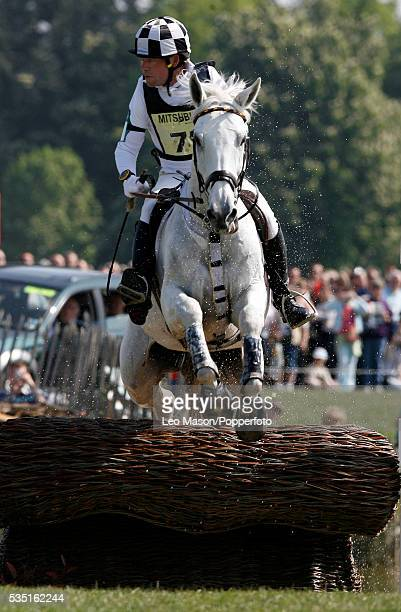 German equestrian Hinrich Romeike competes on Marius VoigtLogistik during the Cross Country Test at The Lake Complex at the 2007 Mitsubishi Motors...