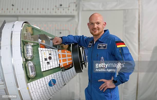 German ESA astronaut Alexander Gerst visits the training unit of the Columbus space laboratory at the European Astronaut training centre of the...