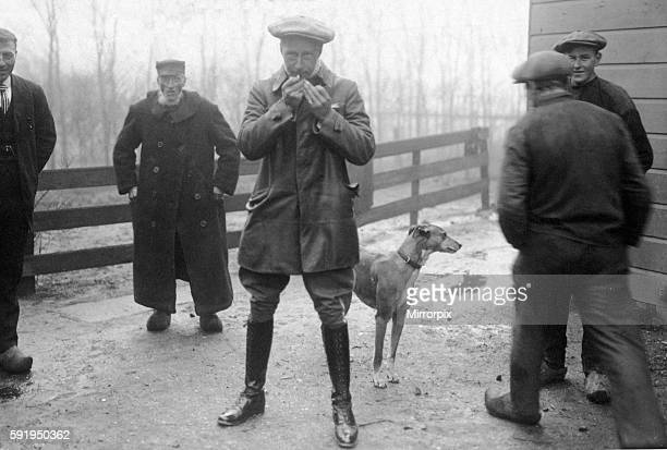 German ExCrown Prince Wilhelm seen here in exile in Holland 28th November 1918
