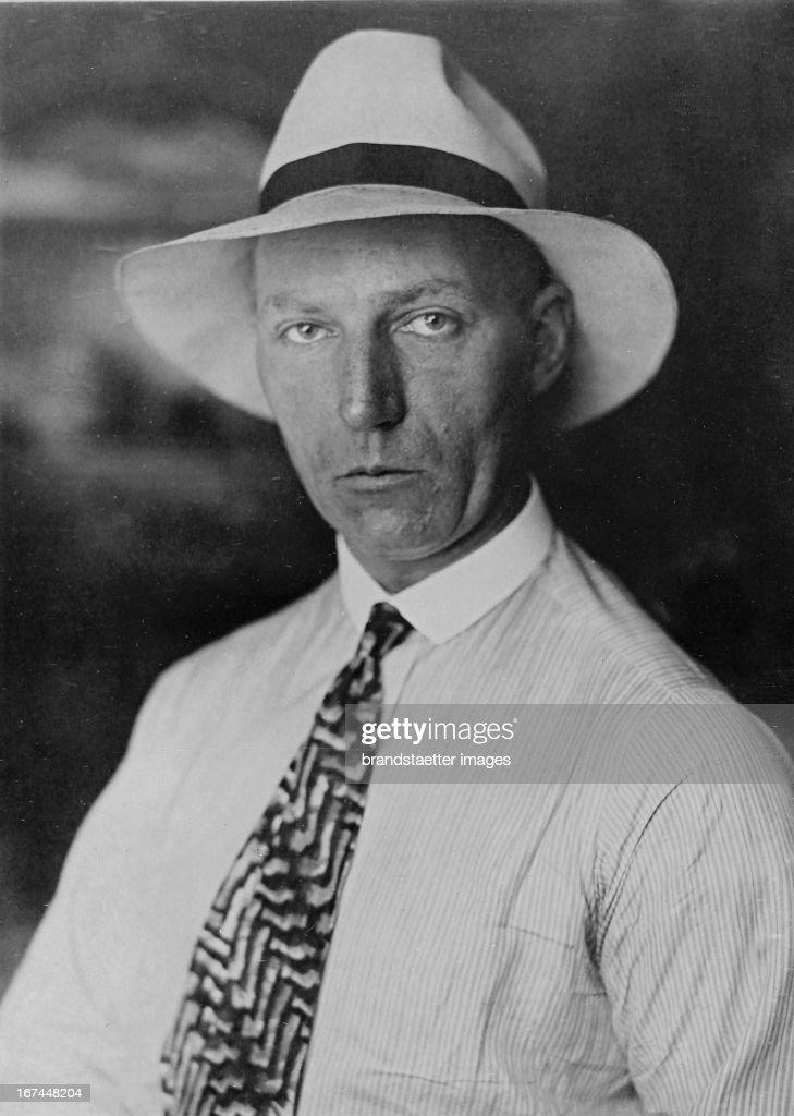 German explorer Ado Baessler. 1928. Photograph. (Photo by Imagno/Getty Images) Der deutsche Forscher Völker Ado Baessler. 1928. Photographie.