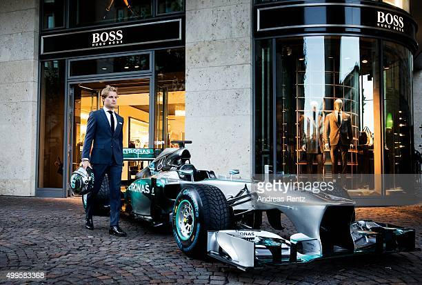 German F1 driver Nico Rosberg of Mercedes GP attends a HUGOBOSS event on September 14 2015 in Frankfurt am Main Germany