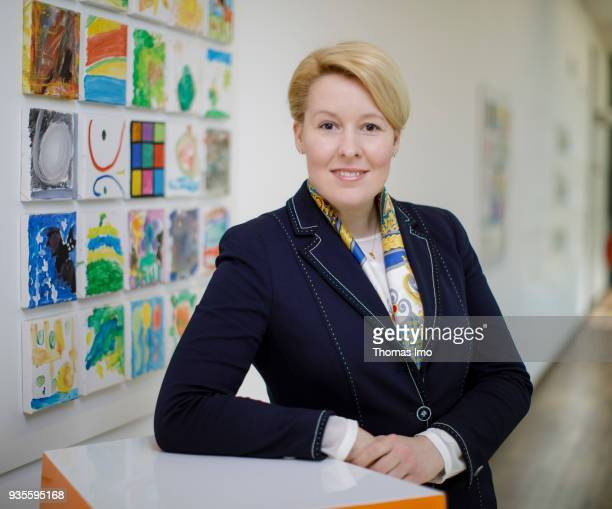 BERLIN GERMANY MARCH 06 German Family Minister Franziska Giffey poses for a photo on March 19 2018 in Berlin Germany on March 19 2018 in Berlin...