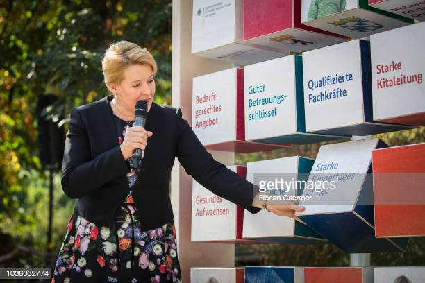 German Family Minister Franziska Giffey presents a law to improve kindergarten on September 19 2018 in Berlin Germany