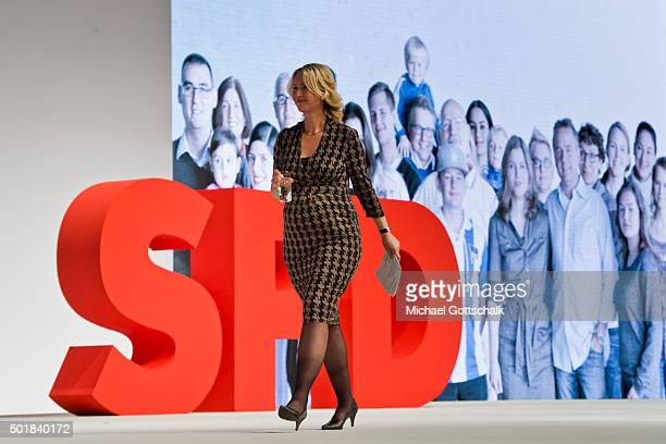 German Family Minister Manuela Schwesig holds a speech at spd party convention on December 10 2015 in Berlin Germany