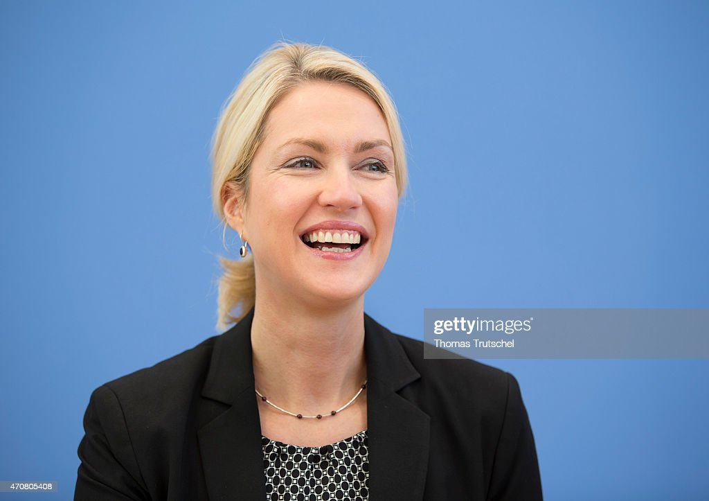 German Family Minister Manuela Schwesig speaks to the media at Bundespressekonferenz on April 23, 2015 in Berlin, Germany. Topic of the Press Conference is a better protection of children and young people against the use of e-cigarettes.