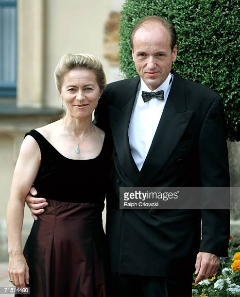 German Family Minister Ursula and her husband Heiko von der Leyen arrive for the opening performance of Richard Wagner's Der fliegende Hollaender on...