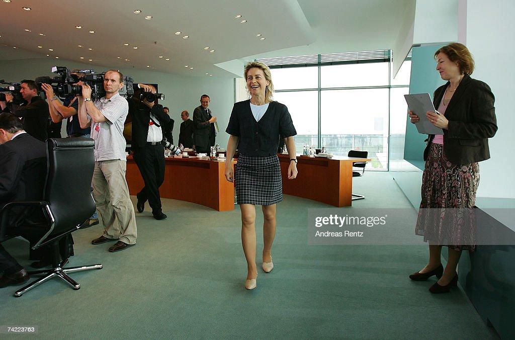german family minister ursula von der leyen arrives for