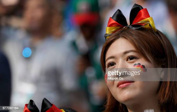 German fan during the 2018 FIFA World Cup Russia group F match between Germany and Mexico at Luzhniki Stadium on June 17 2018 in Moscow Russia