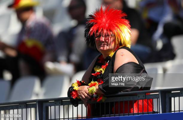 German fan looks on prior to the 2019 FIFA Women's World Cup France Round Of 16 match between Germany and Nigeria at Stade des Alpes on June 22, 2019...