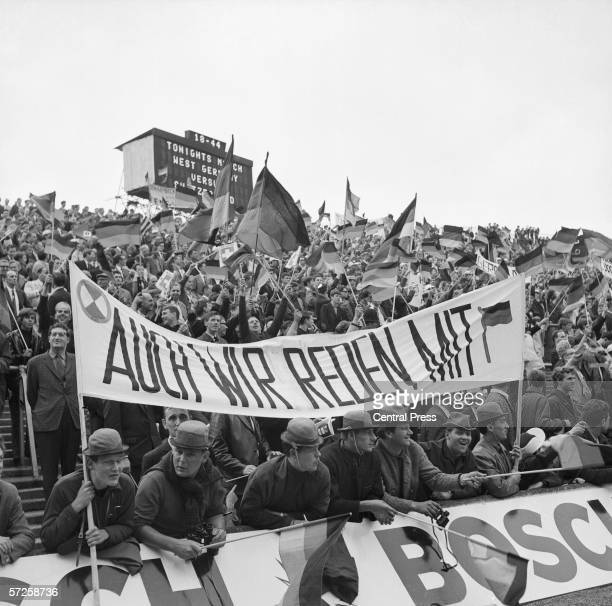 German fans at Hillsborough stadium for West Germany vs Switzerland in Group B during the 1966 World Cup in England 12th July 1966 West Germany won 50