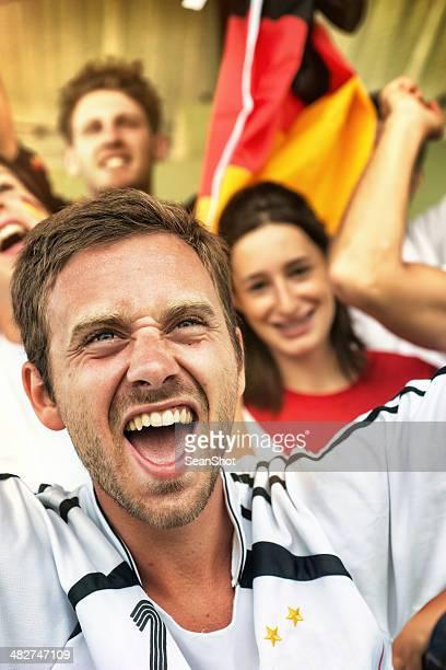 Deutscher Fan im Stadion