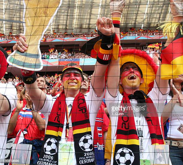 German fans before the opening game of FIFA 2006 World Cup played in Munich Germany on June 9 2006 Germany defeated Costa Rica 42