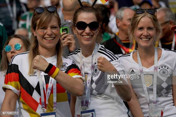 German fans during the 2018 FIFA World Cup Russia group F match between Germany and Mexico at Luzhniki Stadium on June 17 2018 in Moscow Russia