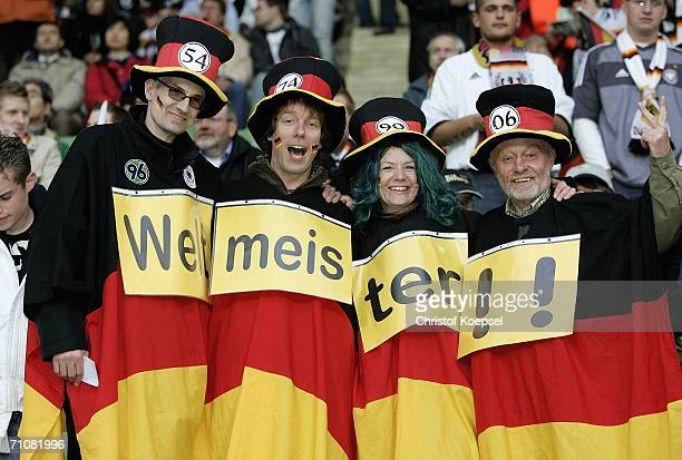 German fans look on during the International Friendly match between Germany and Japan at the Bayarena on May 30, 2006 in Leverkusen, Germany.