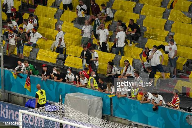 German fans looking disappointed during the UEFA Euro 2020 match between France and Germany at Allianz Arena on June 15, 2021 in Munich, Germany