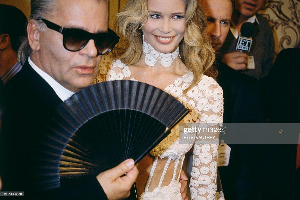 1993 Yves Saint Laurent Haute Couture Spring Summer : News Photo