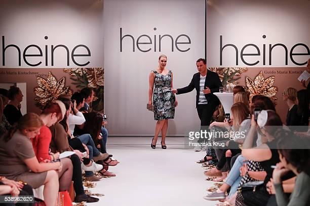 German fashion designer Guido Maria Kretschmer and his model during the  Guido Maria Kretschmer presents new 96112e17ef