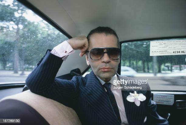 German fashion designer Karl Lagerfeld 1984