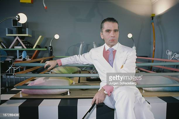 German fashion designer Karl Lagerfeld, 1984.