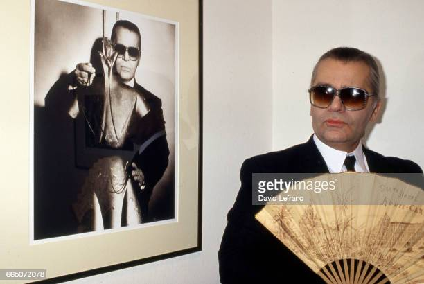 German fashion designer Karl Lagerfeld launches his men's fragance Photo
