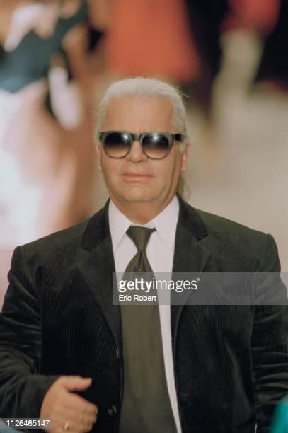 German fashion designer Karl Lagerfeld