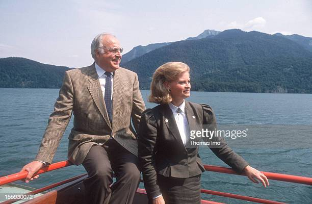 German Federal Chancellor Helmut Kohl and his wife Hannelore Kohl at a holiday resort August 01 Sankt Gilgen Austria