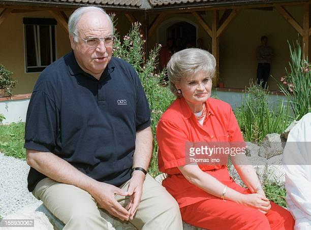 German Federal Chancellor Helmut Kohl together with his wife Hannelore Kohl at a holiday resort August 05 Sankt Gilgen Austria