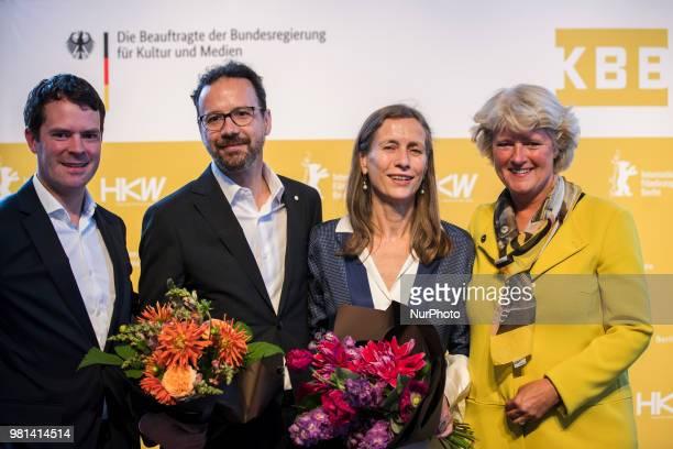 German Federal Commissioner for Culture and Media Monika Gruetters former Italian director of Locarno Film Festival Carlo Chatrian and Dutch Mariette...