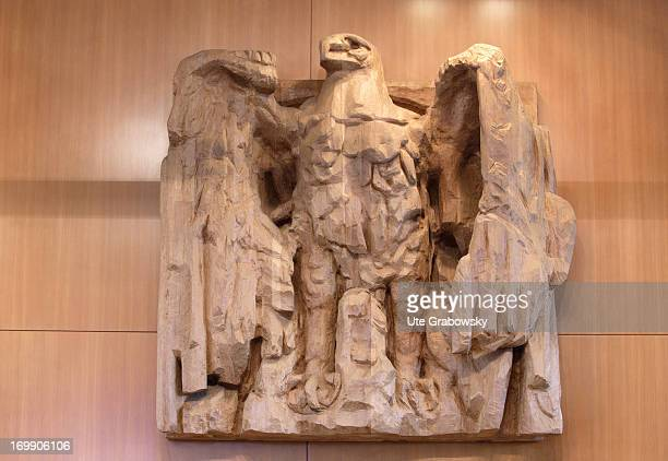 German Federal eagle in the courtroom of the german Federal Constitutional Court Bundesverfassungsgerichts BVG January 1 Karlsruhe Germany