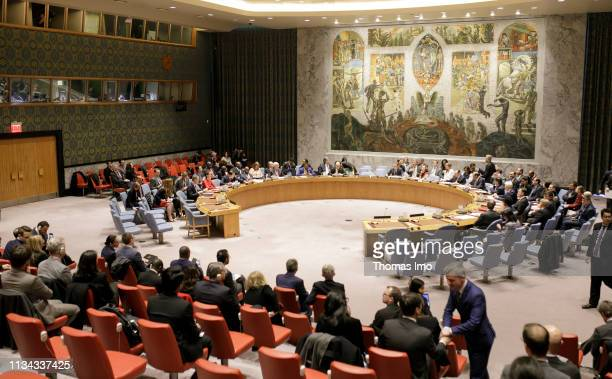German Federal Foreign Minister Heiko Maas SPD chairs the Security Council briefing of the UN Security Council on Supporting the NonProliferation...