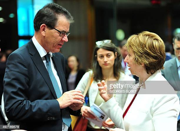 German federal minister for Economic and Development Gerd Muller and High Representative of the European Union for Foreign Affairs and Security...