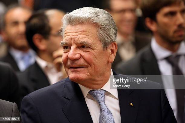 German federal President Joachim Gauck attends celebrations by the Alevi Muslim community for Norooz or the Persian New Year at the Anatolian Alevi...
