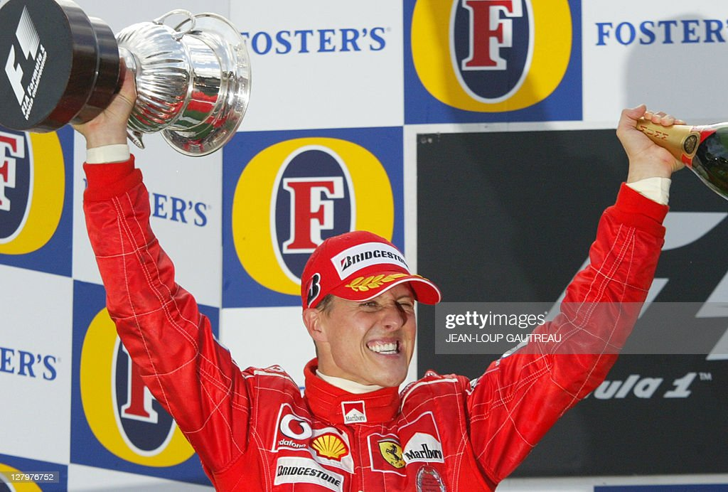 German Ferrari driver Michael Schumacher : News Photo