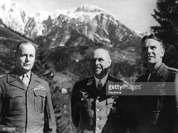 German Field Marshal Albert Kesselring who motored into Berchtesgarden and surrendered to Major General Maxwell D Taylor of the 101st Airborne...
