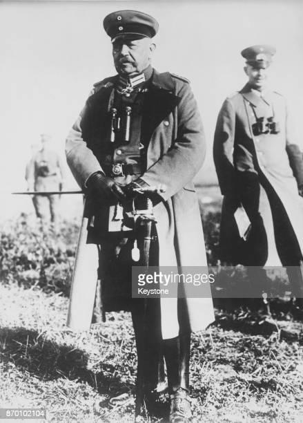 German field marshal and future President of the German Reich Paul von Hindenburg circa 1916