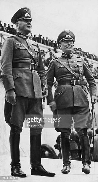 German Field Marshal Werner von Blomberg and General Werner von Fritsch circa 1938