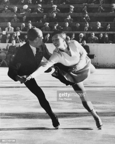 German figure skaters Maxi Herber and Ernst Baier win the gold medal in the pair figure skating event at the Winter Olympics in GarmischPartenkirchen...