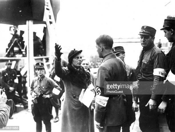 German film director Leni Riefenstahl at work circa 1931