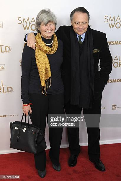 German film maker Gero von Boehm and his wife Christiane pose as they arrive for the world premiere of the film Small World at the Cinema Paris in...