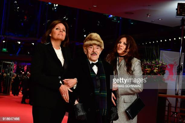 German film producer Artur 'Atze' Brauner and his daughter German film producer and journalist Alice Brauner arrive on the red carpet at the...