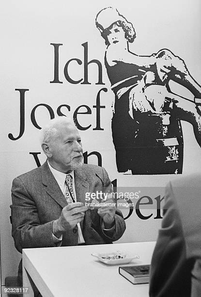 German filmdirector Josef von Sternberg presents his autobiography 'Ich Josef von Sternberg' at the Frankfurt Book Fair Photograph 1967